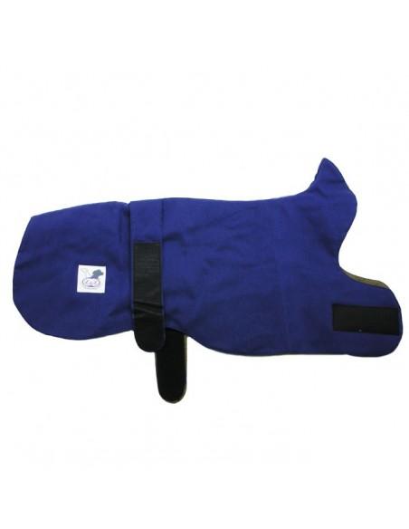 Abrigo para galgo reversible azul