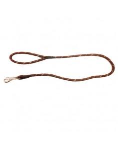 Correa para perro cordón tipo cuerda marrón oscuro