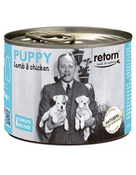 Lata comida cachorro Retorn cordero y pollo