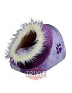 Cuna para perro con funda de peluche y cojín reversible modelo Minou