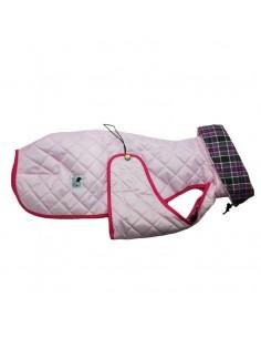 Ropa para perro -  abrigo Impermeable Acolchado Galgo color rosa