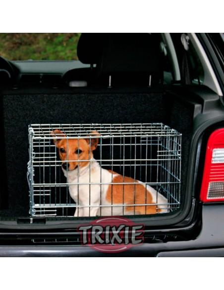Transportín para perro en coche, jaula galvanizada