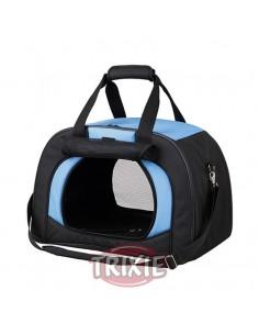 Bolso de transporte para llevar perro en poliester muy resistente, color negro y azul