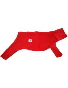 Pijama para galgo de felpa, color rojo