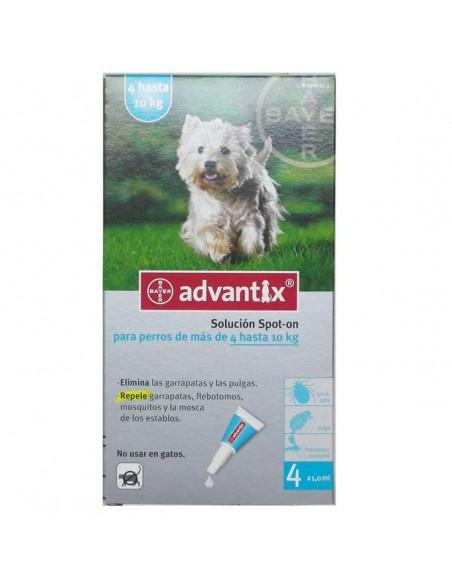 Antiparasitarios para perros - pipeta advantix para perros entre 4 y 10 Kg