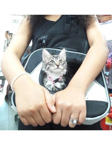 Mochila frontal para transporte de gatos modelo Savina