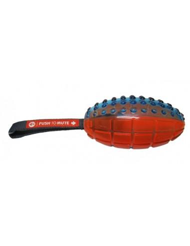 Juguetes para perros pelota rugby con correa para lanzar