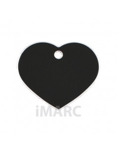 Placa identificativa para perro, corazón grande en colores