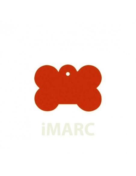 Placa identificativa para perro, hueso pequeña en colores
