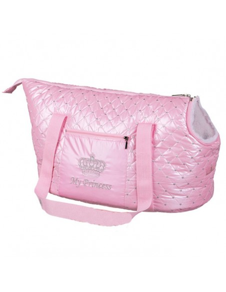 Bolso para gatos My Princess en color rosa, acolchado