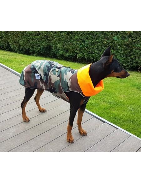 Abrigo impermeable de camuflaje para perro