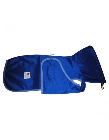 Impermeable para whippet color azul eléctrico