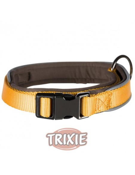 Collares nylon forrado interior color amarillo, modelo Experience