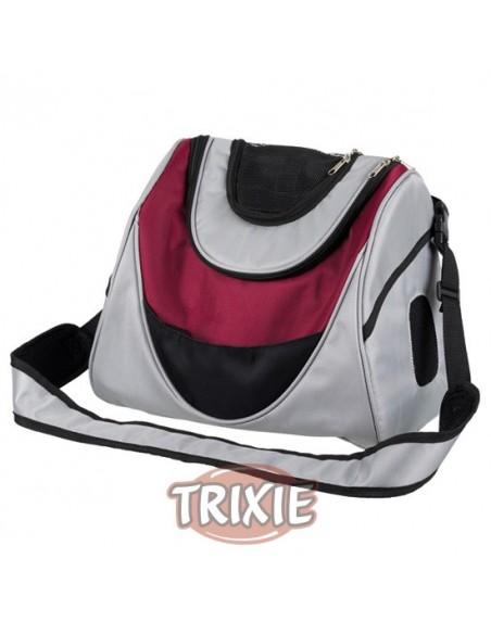 Bolso colgante de paseo para llevar perro en poliester muy resistente, color gris