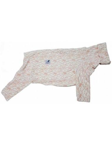 Pijama para galgo de felpa, pingüinos rosa