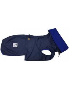 Abrigo Impermeable azul marino con forro polar para galgo