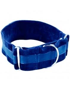 Collares nylon forrado terciopelo martingale azul
