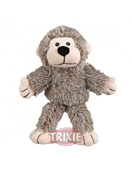 Juguete para perro en materiales suave, modelo mono