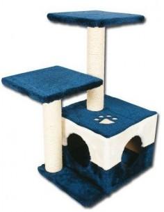 rascador plataformas azul para gato