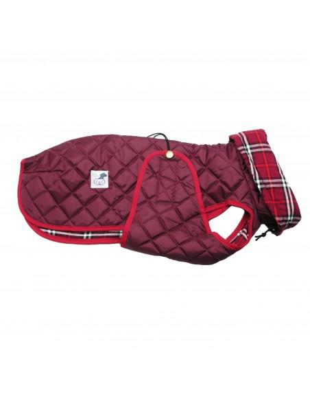 abrigo impermeable galgo granate