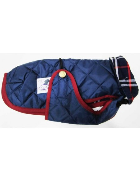 Abrigo Impermeable Acolchado para Piccolo azul marino