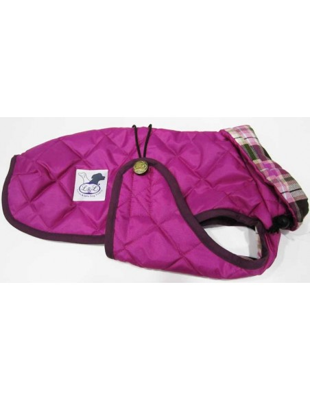 Abrigo Impermeable Acolchado para Piccolo rosa fucsia