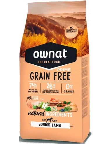 pienso cachorro ownat prime grain free cordero