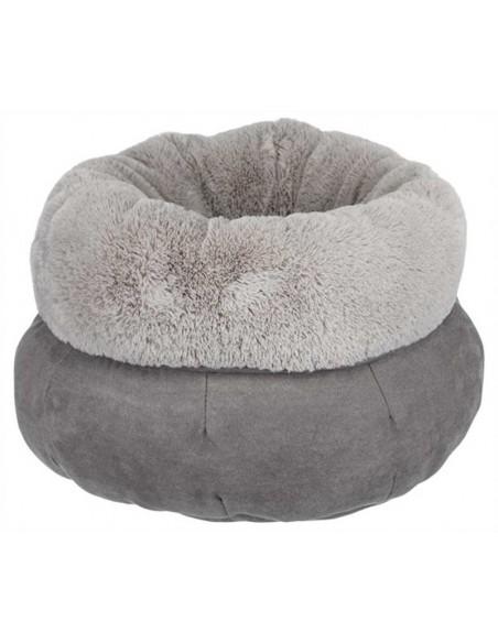 Cama para perro mullida gris modelo Elsie