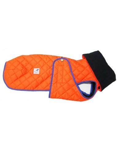Abrigo impermeable acolchado para galgo alta visibilidad naranja