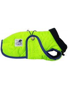 Abrigo Impermeable Acolchado para Piccolo verde flúor