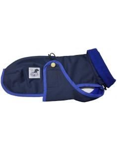 Abrigo Impermeable para Piccolo azul con forro polar azul