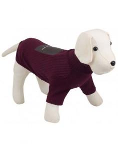 Jersey para perro NYC con cuello en color burdeos
