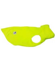 Forro polar para perro color verde flúor