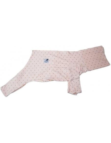 Pijama para perro de felpa rosa palo