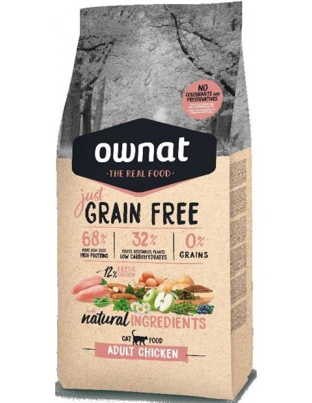 Pienso para gatos OWNAT just Grain Free adultos
