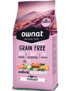 Pienso para gatos OWNAT Grain Free Esterilizados