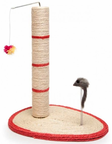 rascador gato beige rojo