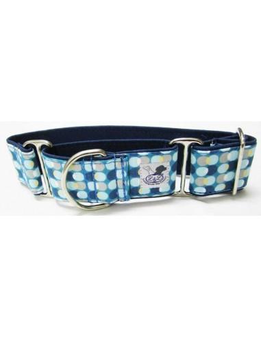 collar piccolo circulos azul