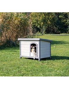 Caseta económica para perro en madera de pino