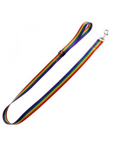 correa perro nylon arco iris
