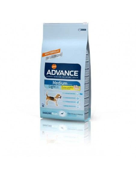 Comida para perros pienso advance MEDIUM LIGHT CHICKEN & RICE