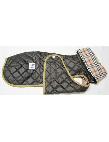 Ropa para perro -  abrigo Impermeable Acolchado Galgo color marrón chocolate