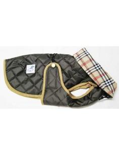 Impermeables para perros modelo Tortuga acolchado con cuello marrón