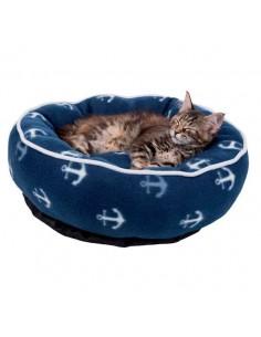 Cuna suave para gato, modelo Barry color azul