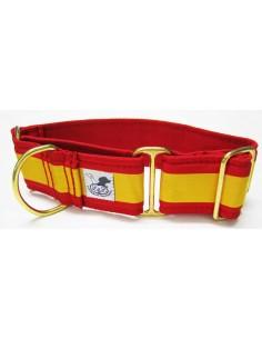 Collar galgo en tela loneta bandera de España