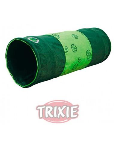 Túnel verde de juego para gato